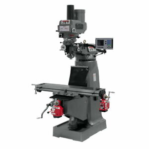 Jet 690139 Jtm 4vs Mill 3 axis Acu rite 200s Dro quill X Y axis Feeds Draw Bar