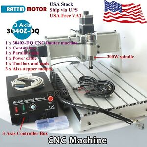 usa 3 Axis Lpt 3040z dq 300w Cnc Router Engraving Machine Ball Screw Kit 110v