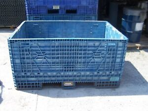48 x70 x34 Plastic Collaspable Stackable Folding Gaylord Shipping Crates