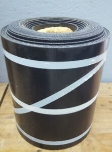 Black Smooth Top Rubber Conveyor Belt 50 X 14 x 5 32 Thick New