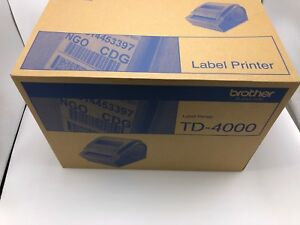 Brother Td 4000 Label Thermal Printer Black And White New