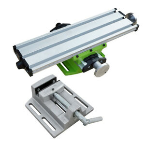 Milling Machine Work Table Vise Fixture Precision 2 Axis For Bench Drill From