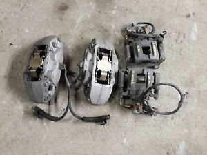 Complete Set 4 Piston Brake Calipers W O Performance Pack Ford Mustang 15 16 17