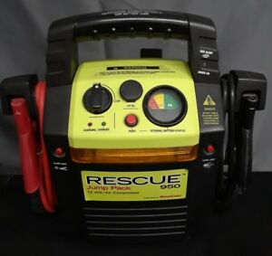 Rescue 950 Portable Power Pack Battery Jump Starter Air Compressor