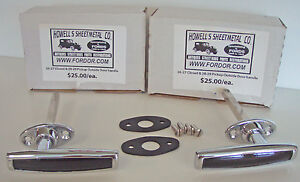 1928 1929 Model A Ford Outside Door Handle Set With Pads Screws Pickup Truck