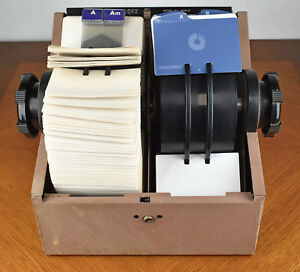 Vintage Heavy Duty Metal Rolling Top Rolodex Double Card File Model 2400 t