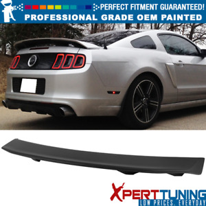 Fits 10 14 Ford Mustang Ls Style Trunk Spoiler Oem Painted Color
