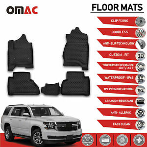 Chevy Tahoe Gmc Yukon Floor Mats Liner 3d Molded Fit Black Protector Set 2015