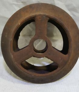 Vintage Cast Iron Industrial Wheel Peace Sign Rustic Farmhouse Garden Decor 11