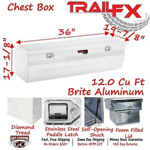 150361 Trailfx 36 Polished Aluminum Truck Bed Chest Tool Box Wedge