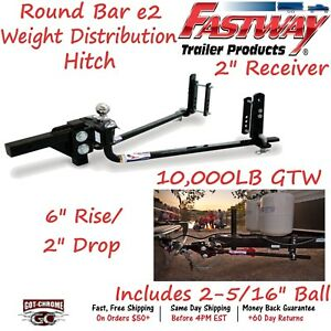 94 00 1061 Fastway Trailer Steel E2 Weight Distribution Hitch With 10 000 Lb Gtw