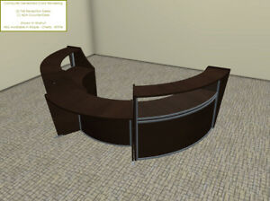 Large Round Reception Desk With Wheel Chair Accessible Ada Lower Side Counter