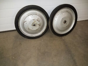 2 Used 16 Ridgid 535 Threader Stand Cart Wheels Free Shipping