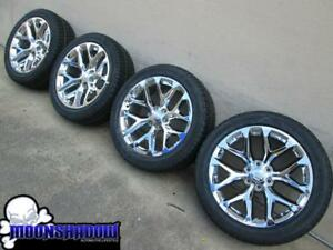 22 Gm Cadillac Escalade Oem Factory Chrome Wheels Rims Bridgestone Tires
