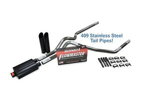 Dodge Ram 1500 09 18 2 5 Stainless Dual Exhaust Kit Flowmaster Super 44 Blk Tip