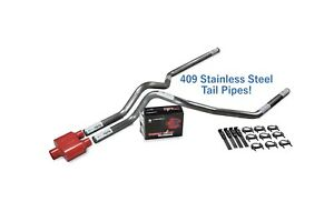 Dodge Ram 1500 09 18 2 5 Stainless Dual Exhaust Kit Cherry Bomb Extreme