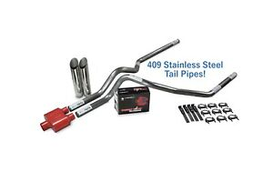 Ford F 150 04 14 2 5 Stainless Dual Exhaust Kit Cherry Bomb Extreme Sl Tip