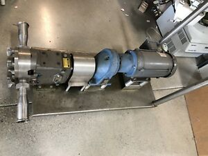 Waukesha 030 Positive Displacement Pump Stainless Steel 3 Hp