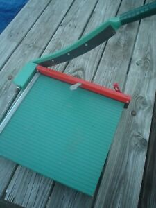 Vintage Heavy Duty Premier 16 Green Paper Trimmer Cutter 715 Arts Crafts Photos