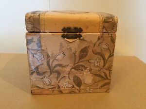 Antique Box Celluloid Or Decopage