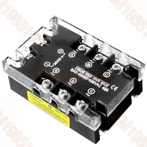 3 phase Solid State Relay Sa3 4040d Load 40 480vac 40a Ssr Input 4 32vdc