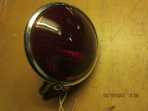 Vintage 6 Volt Red Emergency Lamp Circa 40 S 50 S Fire Truck Cop Car