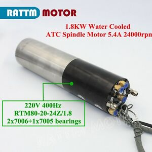 Cnc 1 8kw Atc Automatic Tool Changer Water Cooling Spindle Motor 220v 5 4a Iso20