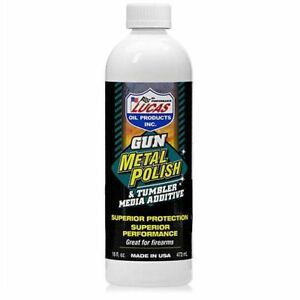 1Bottle Lucas 10880 Gun Metal PolishTumbler Media AdditiveGun CleanerOil 16oz $19.00
