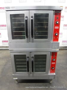 Vulcan Vc4gd 10 Gas Double Deck Full Size Convection Oven