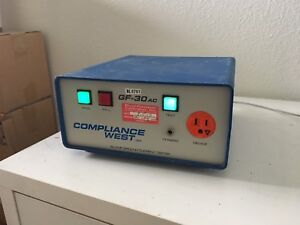 Compliance West Usa Gf 30ac 30 Amp Continuity Ground Current Tester Bench