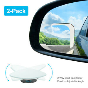 2x Car Auto Blind Spot Mirrors 360 Wide Angle Convex Rear Side View For Car Suv