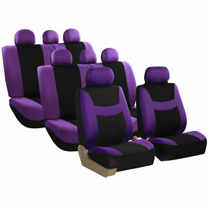 Car Seat Covers For Auto Suv Van Truck 3 Row Purple