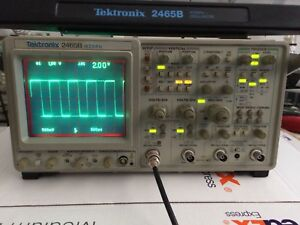 Refurbed calibrated Tektronix 2465b 400mhz 4channel Oscilloscope