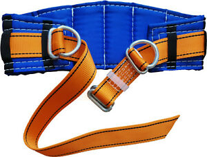 Safety Belt Adjustable Size 30 55 2 D rings Blue Yellow