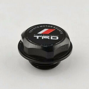 New Jdm Black Trd Engine Oil Filler Cap Billet Aluminum Corolla Tc Xa Xb Camry