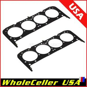 2pcs Multi Layer Steel Head Gaskets 4 065 In For Sbc Small Block Chevy 350 383