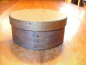 Antique Early American Round Covered Pantry Box