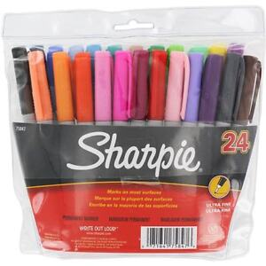 Sanford Sharpie Assorted Ultra Fine Point Permanent Markers set Of 24