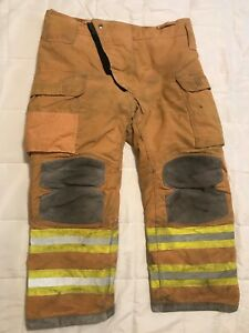 Lion Janesville Firefighter Turnout Pants Bunker Gear W Liner 42 X 30