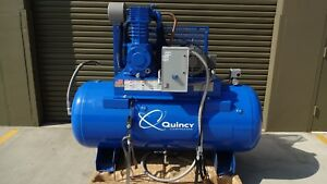 Quincy Reciprocating Air Compressor 10 Hp 200 208 Volt 3 Phase