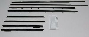 1974 1976 Cadillac Deville 2dr Hardtop Fixed Rear Window Weatherstrip Kit 8pcs