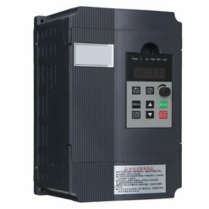 220v 1 5kw Variable Frequency Converter Vfd Single Phase To 3 Phase Inverter