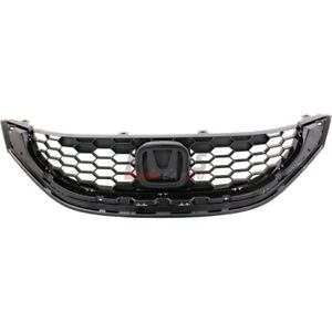 New Grille Assembly Front Fits 2013 2014 Honda Civic Ho1200218c 71121tr3a11