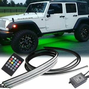 Rgb 8 Color Led Car Truck Remote Control Underglow Underbody System Lights Kit