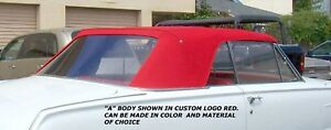 Plymouth Valiant Signet 1963 64 Convertible Top window Choice Of Color Vinyl
