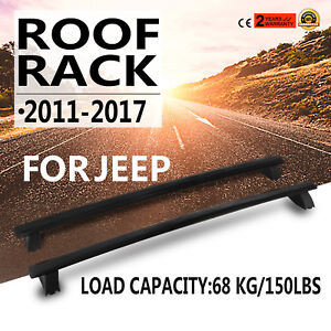 For 2011 2017 Jeep Grand Cherokee Luggage Carrier Cross Bar Roof Rail Rack Black
