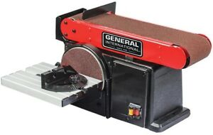 Benchtop Disc Sander Belt 15-Amp Power Tool Equipment Cast Iron Base Durable