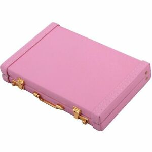 Premium Briefcase Pink Business Card Holder case Of 144