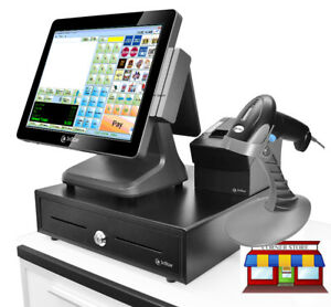 3nstar 15 Touchcomputer Complete Retail Station W Cornerstore Pos Windows 10