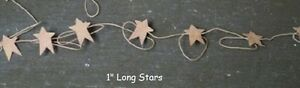 Primitive Rusty Tin Star Garland 6 Ft Long With 12 1 Stars Christmas Crafts